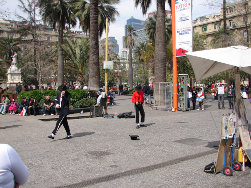A picture from downtown in Santiago de Chile.