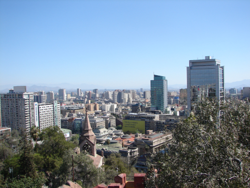 A picture from Santa Lucía in Santiago de Chile.